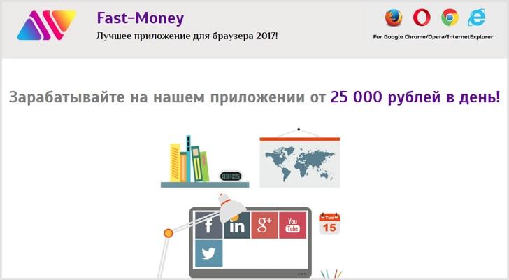 [ОБМАН] Fast-Money приложение для браузера