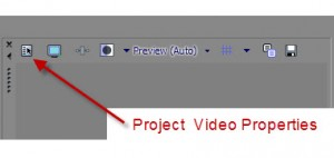 Project video properties